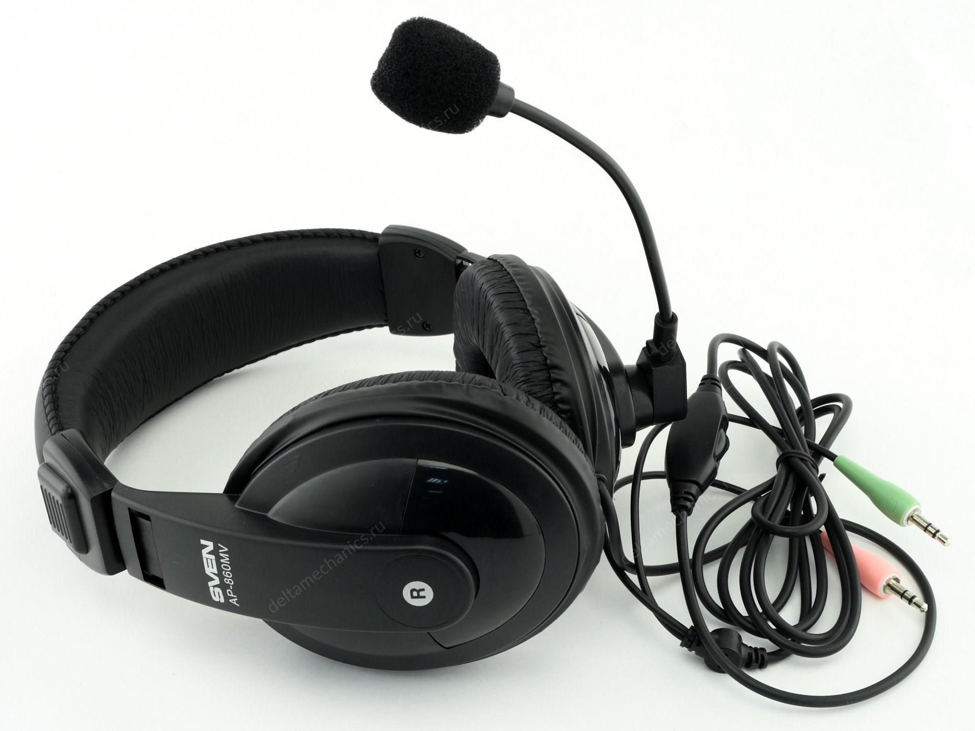Гарнитура SVEN AP-860MV (с регулятором громкости) - купить в ... 9eda2cc502862