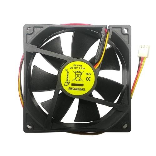 Вентилятор Gembird 90x90x25мм, питание от мат. платы, управляемый, на подшипнике - фото 10043