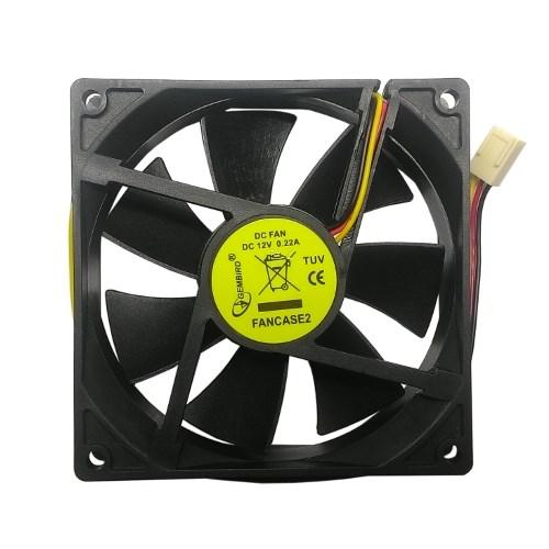 Вентилятор Gembird 90x90x25мм, питание от мат. платы 3-pin, управляемый - фото 10044