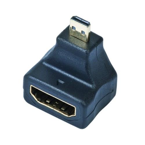 Переходник HDMI (19F) -> microHDMI (19M) угловой - фото 10243
