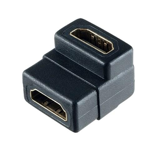Переходник HDMI (19F) -> HDMI (19F) (90° угловой) - фото 10246