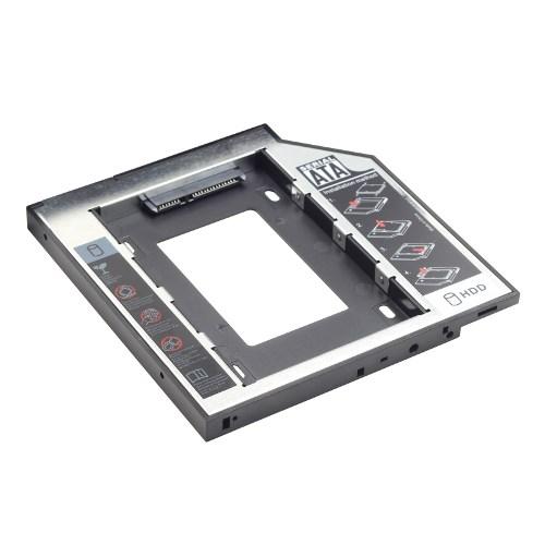 """Салазки для замены привода 9.5мм в ноутбуке на устройство 2.5"""", SATA, черные - фото 10248"""