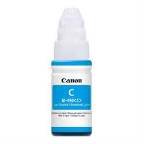 К-ж Canon GI-490 C Cyan (PIXMA G1400/2400/3400) 70мл, ориг. (0664C001) - фото 10337