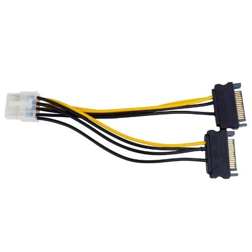 Переходник питания для видеокарт 2xSATA -> 8pin PCI-E - фото 10370