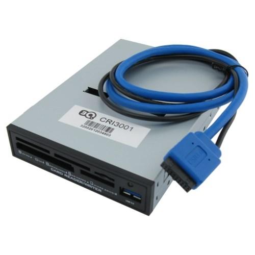 "3.5"" Internal USB 3.0 Card Reader +1xUSB 3.0, 3Q (CRI3001) Black - фото 10391"