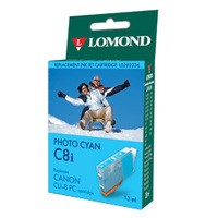 "К-ж Canon CLI-8PC Photo Cyan (PIXMA iP6600D/IX4000/IX5000) ""Lomond"" без чипа - фото 10479"