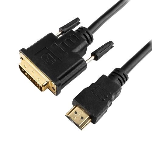 Кабель HDMI19M - DVI19M High Speed, зол.конт., экран, 7.5м - фото 10489