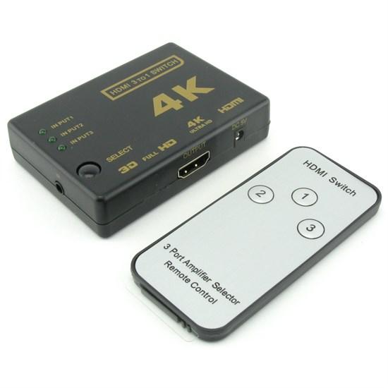 Переключатель HDMI, 3входа-1выход, ПДУ (30758) - фото 10568