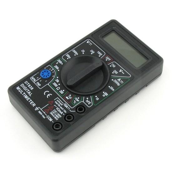 Мультиметр DT838 звуковой (750В/1000В, 10А, 0.1Ом-2МОм, температура) - фото 10683