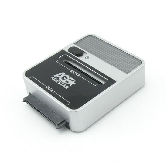"""Внешний корпус для 2.5""""&3.5"""" Agestar S2BP для 2xHDD SATA USB 2.0/eSATA - фото 10707"""