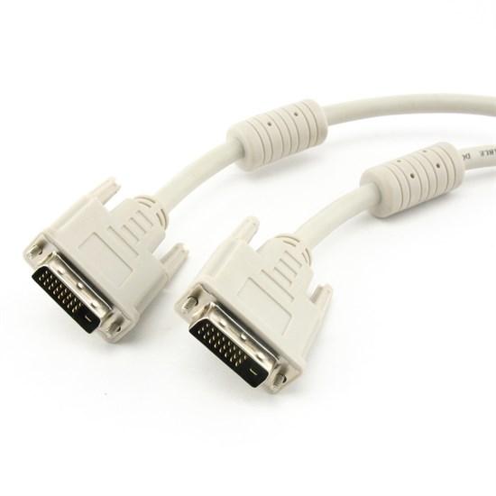 Кабель DVI-D Dual Link 25M-25M 1.8м, экранированный, 2 фильтра - фото 10772