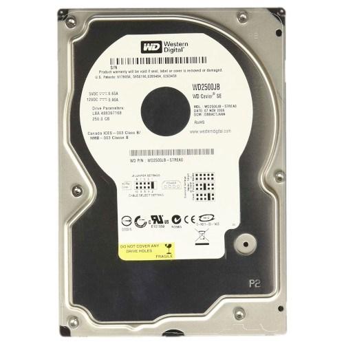 IDE 250 GB WD (WD2500JB), 7200rpm, 8MB - фото 10965