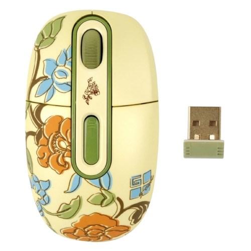 Мышь беспров. A4Tech G-Cube Floral Fantasy - Spring, USB (G7F-10SP) - фото 11028