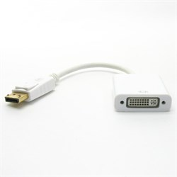 Переходник-конвертер DisplayPort (M) -> DVI (19F) 0.1м, белый - фото 11306