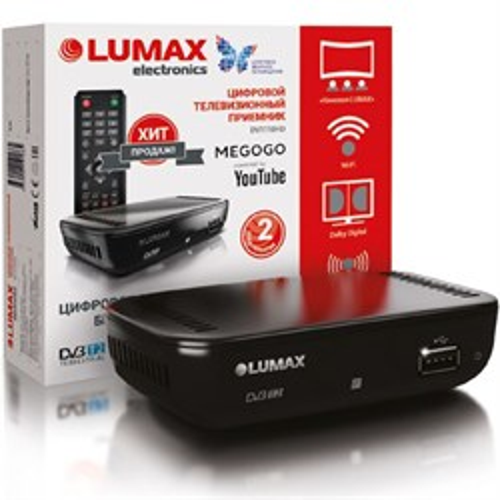 Ресивер цифрового телевидения LUMAX DV-1110HD (DVB-T2/C, HDMI, RCA, USB/опц.Wi-Fi/3G) - фото 11384