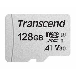 microSD Memory Card SDXC 128GB Class10 UHS-I U3 V30 A1 Transcend 95/45 MB/s (TS128GUSD300S) - фото 11527