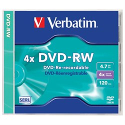 DVD-RW 4.7GB Verbatim 4.7Gb, 4x, jewel (43284) - фото 11685