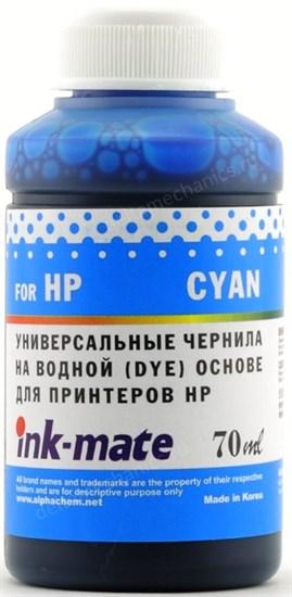 Чернила для HP 121/122/123/178/650/652/655/920 Cyan [Dye] (70мл) Ink-Mate HIMB-UC - фото 11875