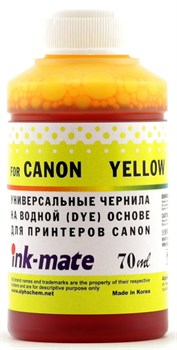 Чернила для Canon CLI-8/CL-41/51/511/513/CLI-521/426/441/446/451/526/726 Yellow [Dye] (70мл) Ink-Mate CIMB-UY - фото 11880