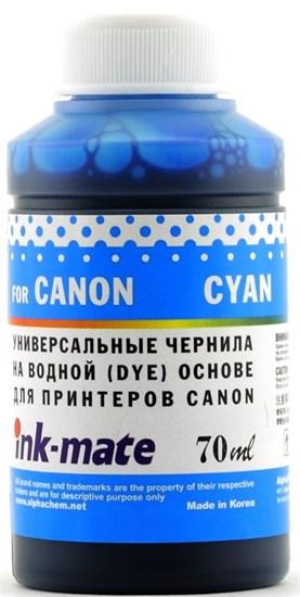 Чернила для Canon CLI-8/CL-41/51/511/513/CLI-521/426/441/446/451/526/726 Cyan [Dye] (70мл) Ink-Mate CIMB-UC - фото 11881