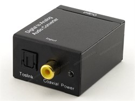 Переходник-конвертер Аудио S/PDIF(Toslink + RCA (F)) -> 2xRCA (F), питание USB5V2A - фото 12092