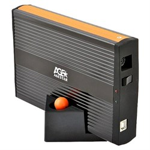 "Внешний корпус для 3.5"" HDD Agestar IUB3A для IDE HDD 3.5"", металл., USB 2.0 - фото 12204"