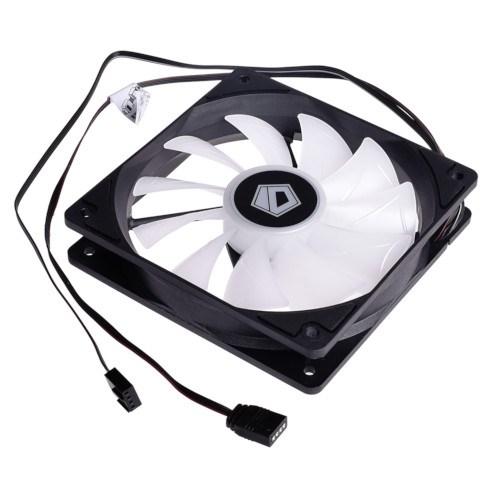 Вентилятор ID-COOLING XF-12025-RGB 120x120x25мм, 700-1800rpm, hydro, PWM, RGB - фото 12260