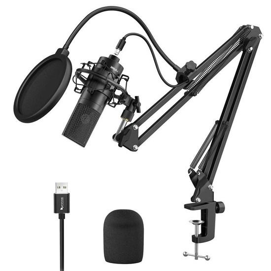 Микрофон FIFINE K780A (чёрный, на поворотной стойке, USB 5V, 20Hz-20kHz, -34dB±30% (1kHz), S/N 78dB, шнур USB A-B 2.5 м) - фото 12653