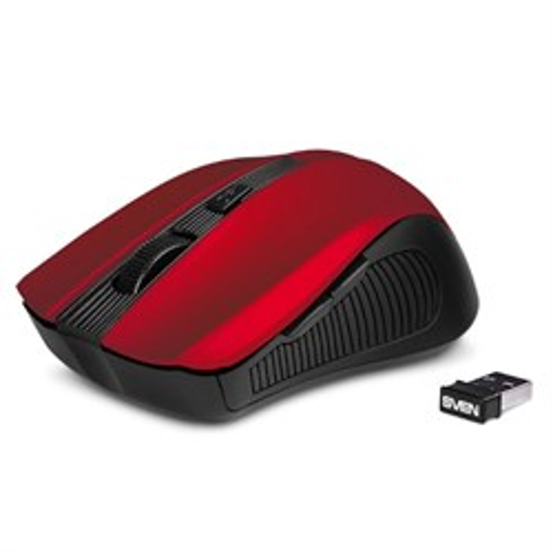 Мышь беспров. SVEN RX-345, красная, USB - фото 12838