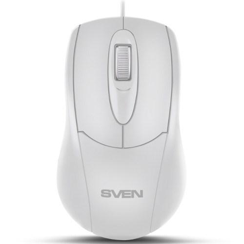 Мышь SVEN RX-110, белая, USB - фото 12855