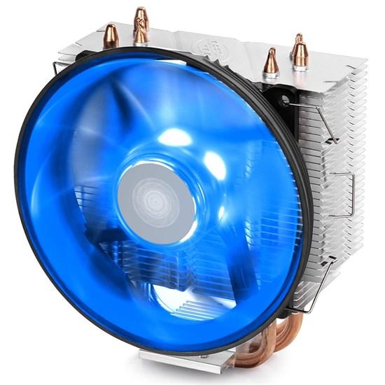 Кулер для S.1366/115X/775/AMD Deepcool GAMMAXX 300 B (TDP 130W, heatpipe, Al+Cu, 120mm, PWM, Blue LED) - фото 13051