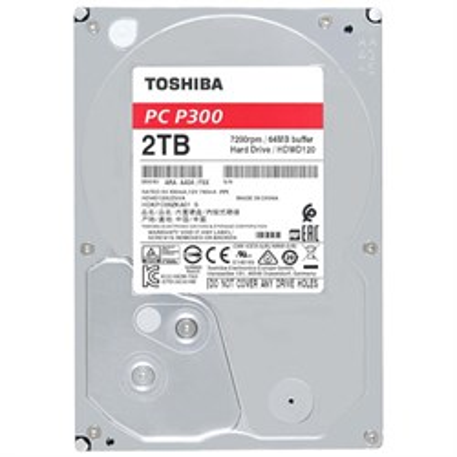 SATA 2.0 TB Toshiba P300 (HDWD120UZSVA) SATA-3 6Gb/s, 7200rpm, 64MB - фото 13057