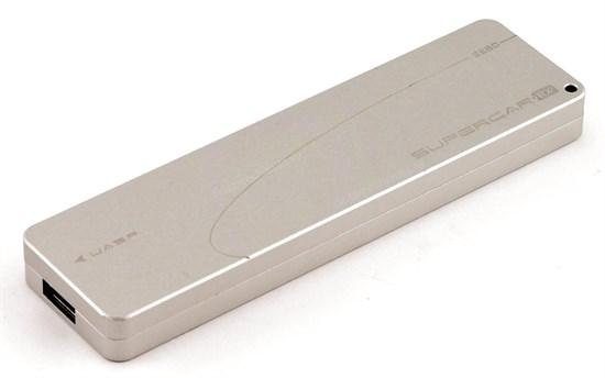 Внешний корпус для M.2 PCIe SSD JEYI i9 (M-key, 2280/2260/2242, Al, grey), USB 3.1 - фото 13119