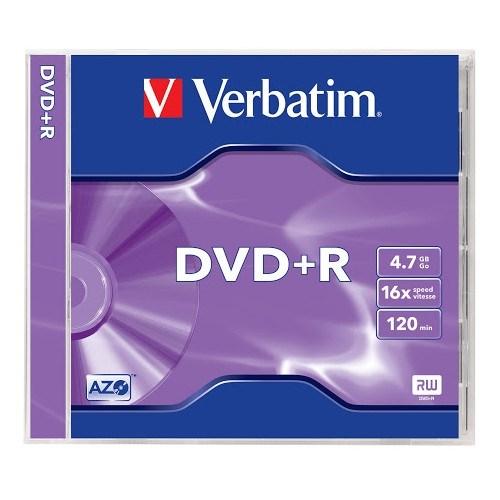 DVD+R 4.7GB Verbatim 16x, jewel (43496) - фото 13693
