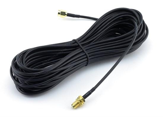 Антенный кабель RG-174 8.5м, RP-SMA-m to RP-SMA-f - фото 13713