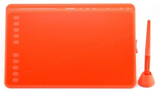 Графический планшет HUION HS611 красный (258x161 мм раб., 8192ур., 5080lpi, >233PPS, выс. чуств. 10мм, тачбар, Win/MacOS/Android) - фото 13726