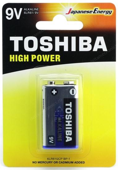 """Крона"" (6LR61) Toshiba, 9V, alkaline - фото 13982"