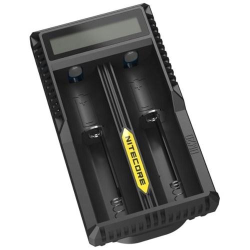 Зарядное устройство Nitecore UM20 (для 2 акк. 18650/18490/18350/17670/17500/16340/14500/10440) Li-Ion/IMR, LCD, USB - фото 14327
