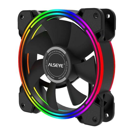Вентилятор Alseye HALO 4.0 S-RGB 120x120x25мм, PWM, 800-2000rpm, LED подсветка - фото 14356