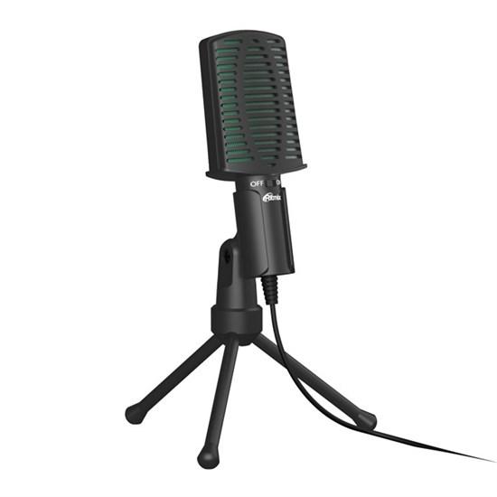 Микрофон Ritmix RDM-126 Black-Green на штативе-подставке, 50-16000Гц, -30±3 дБ, кабель 1.8м - фото 14435