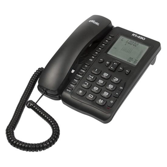 Телефон Ritmix RT-490 черный (дисплей, спикерфон) - фото 14521