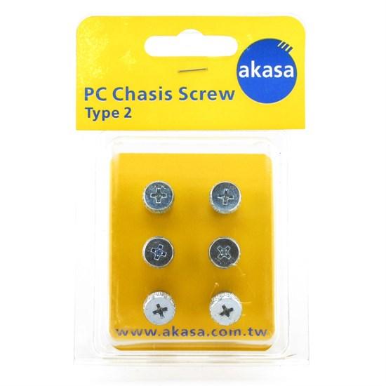 Винты Akasa <AK-CH-S2> для алюминиевого корпуса, нержавеющая сталь, 6 шт, retail - фото 14992