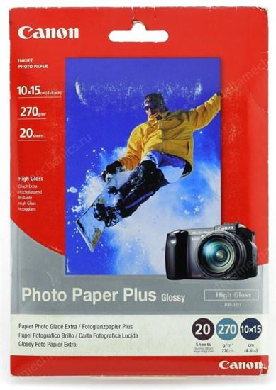 Бумага Canon A6(10x15) PP-101 7980A010 Photo Plus Glossy, 270 г/м2, 20л. - фото 15183