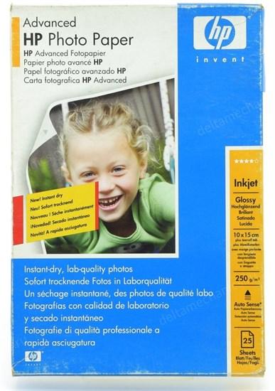 Бумага HP A6 Q8694A Glossy (25 листов, 250г/м2, с отрывным ярлычком) - фото 15189