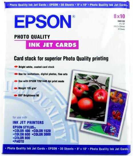 """Бумага Epson 8""""x10"""" (204x255мм) S041122 188 г/м2 30л. (матовая) - фото 15196"""