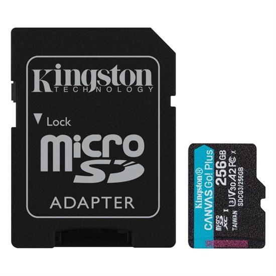 microSD Memory Card SDXC 256GB Class10 UHS-I U3 Kingston Canvas Go Plus 170R A2 V30 170MB/s (SDCG3/256GB) - фото 15224