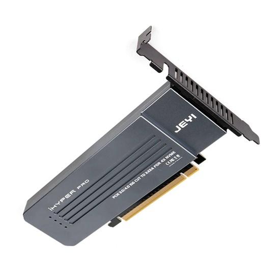 Адаптер в слот PCIe 3.0x16 JEYI iHyper-Pro M2X16 (4 x PCIe 3.0x4 NVMe M.2 SSD 2280, Al радиатор) - фото 15227