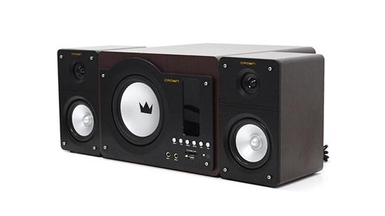 Crown CMS-344 черно-корич. (60W, 40-20000 Гц, 2.1, MP3-плеер(SD,USB), 2-полос. сателлиты, ПДУ) - фото 5661