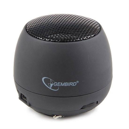 Gembird SPK-103, черный, портативн.2.4 Вт, встроен. аккумулятор - фото 5709