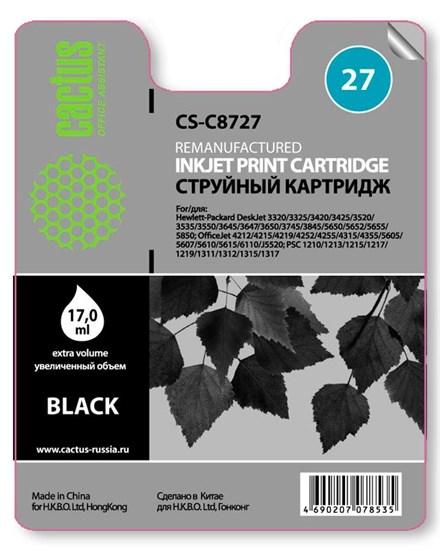 К-ж HP C8727A Black  для HP DJ 3320/3325/3420, 17мл, Cactus - фото 5764